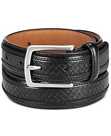 Club Room Men's Feathered Embossed Belt, Created for Macy's