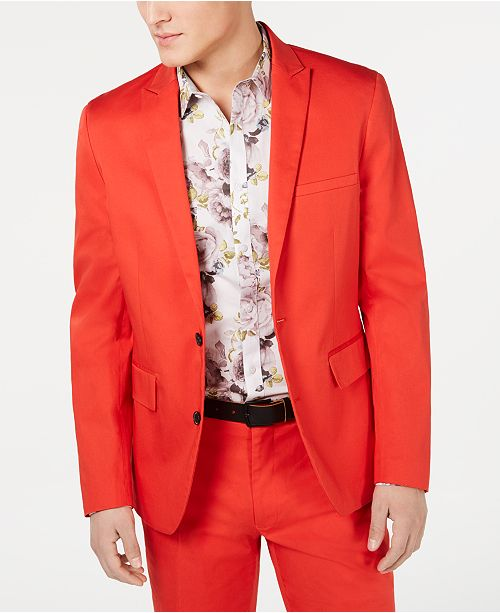INC International Concepts I.N.C. Men's Slim-Fit Hot Sauce Suit Separates, Created for Macy's
