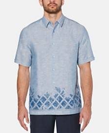 Cubavera Men's Tropical Graphic Linen Shirt