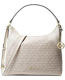 MICHAEL Michael Kors Aria Jacquard Signature Shoulder Bag