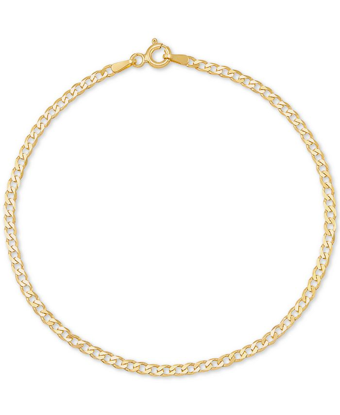 Italian Gold - Curb Link Chain Bracelet in 14k Gold