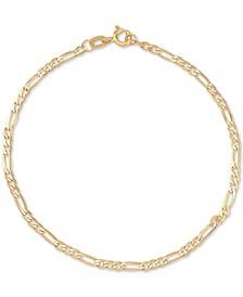 Figaro Link Chain Bracelet in 14k Gold