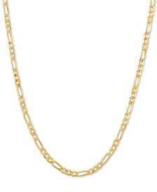 "Figaro Link 18"" Chain Necklace in 14k Gold"