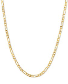"Italian Gold Figaro Link 18"" Chain Necklace in 14k Gold"