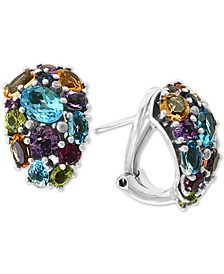 EFFY® Multi-Gemstone (8-1/3 ct. t.w) Drop Earrings in 18k Gold over Sterling Silver