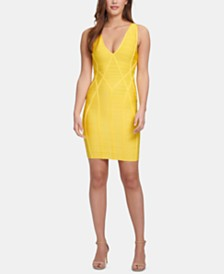 GUESS V-Neck Bodycon Dress