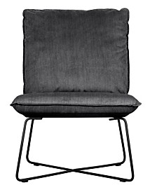 Tommy Hilfiger Ellington Armless Lounge Chair, Quick Ship