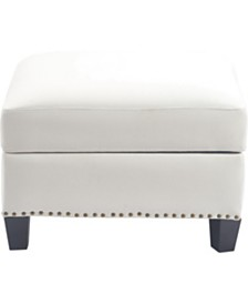 Elle Décor Bella Storage Ottoman, Quick Ship