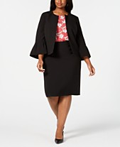 0e79fd04aab Nine West Plus Size Bell-Sleeve Jacket