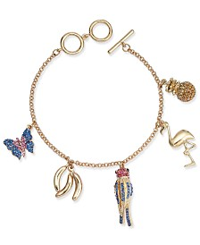 Thalia Sodi Gold-Tone Tropical Charm Bracelet, Created for Macy's
