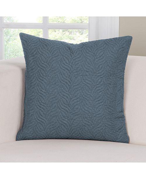 "PoloGear Saddleback Blue 26"" Designer Euro Throw Pillow"