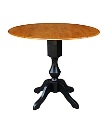 "International Concept 42"" Round Dual Drop Leaf Pedestal Table"