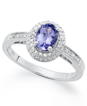 Sterling Silver Ring, Tanzanite (3/4 ct. t.w.) and Diamond Accent Ring