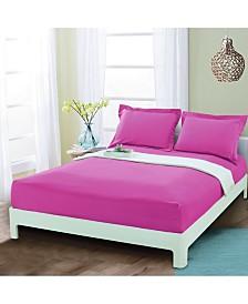 Elegant Comfort Silky Soft Single Fitted Sheet Full Pink