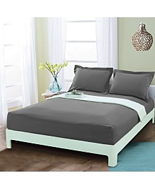 Elegant Comfort Silky Soft Single Fitted Set King Gray