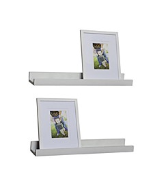 Set of 2 Ledge Shelves with 2 Photo Frames