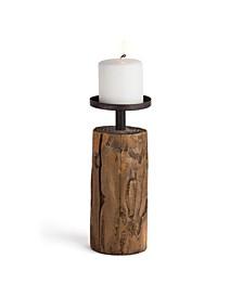 Candleholder on Log