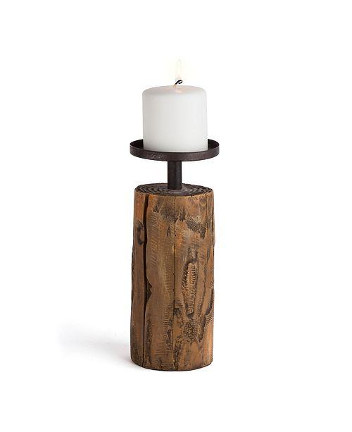 Danya B Candleholder on Log
