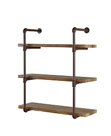 Danya B. Three Tier Industrial Pipe Wall Shelf