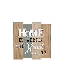 """Home Is Where The Heart Is"" Wooden Wall Plaque"