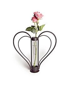 Sweetheart Iron Heart-shaped Bud Vase