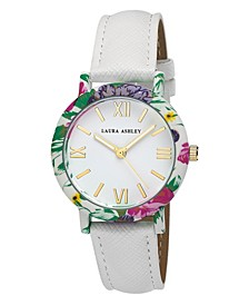 Women's Floral Bezel Watch