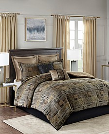 Madison Park Danville California King 8 Piece Chenille Jacquard Comforter Set