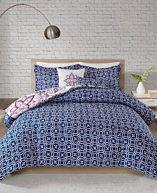 510 Design Amari Full/Queen 5 Piece Reversible Print Comforter Set
