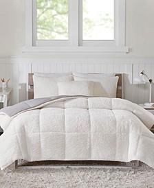 Intelligent Design Jensen Full/Queen Reversible Sherpa to Softspun Flannel 3 Piece Comforter Mini Set