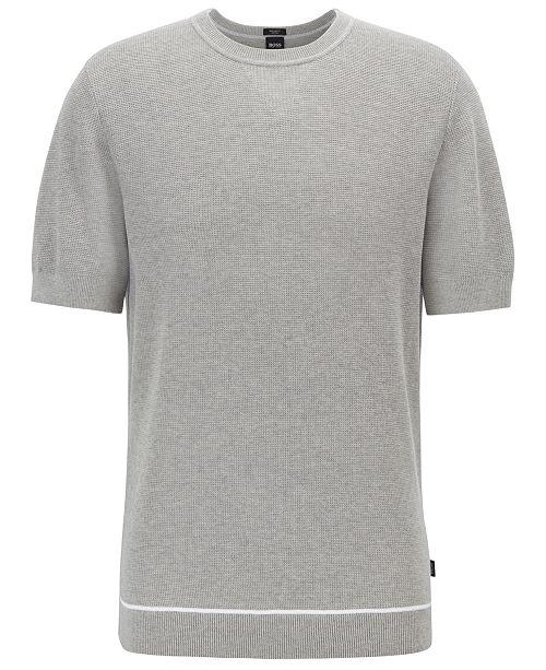 Hugo Boss BOSS Men's Forte Short-Sleeved Cotton Sweater