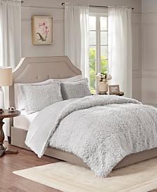 Madison Park Nova Full/Queen Faux Mohair Reverse Faux Mink 3 Piece Comforter Set