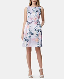 Tahari ASL Bow Fit & Flare Dress