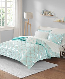 Lorna Twin 6 Piece Comforter and Sheet Set