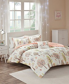 CLOSEOUT! Twyla Full/Queen 4 Piece Cotton Printed Comforter Set