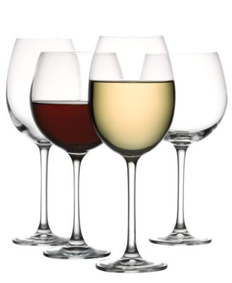 the cellar glassware set of 8 premium red u0026 white wine glasses