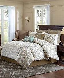 Madison Park Signature Pierce Queen 8 Piece Comforter Set