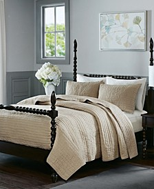 Serene Full/Queen 3 Piece Cotton Quilt Coverlet Set