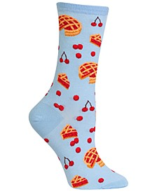Women's Cherry Pie Fashion Crew Socks