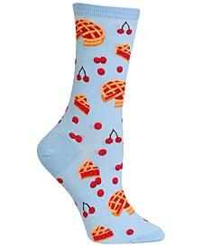 Women's Cherry Pie Fashion Crew Socks