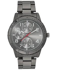 I.N.C. Men's Dark Gunmetal Bracelet Watch 45mm, Created for Macy's