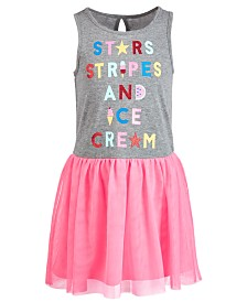 Epic Threads Little Girls Stars, Stripes & Ice Cream Dress, Created for Macy's
