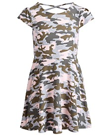 Epic Threads Little Girls Camo-Print Cross-Back Dress, Created for Macy's