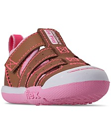 Skechers Toddler Girls' Flex Play - Solar Steps Athletic Sandals from Finish Line
