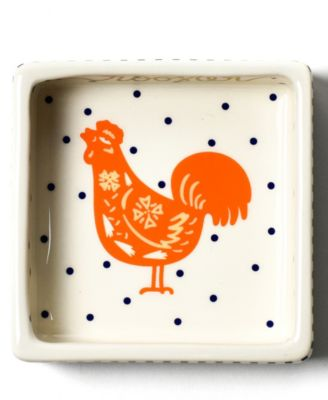 by Laura Johnson Chinese Zodiac Rooster Square Trinket Bowl
