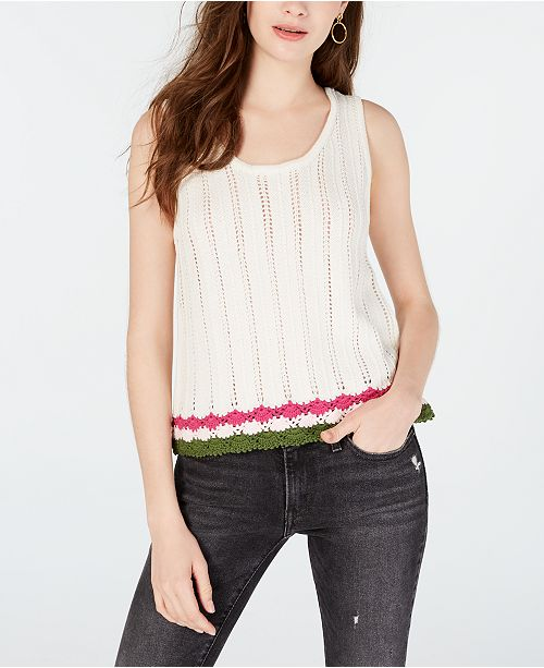 Oh!MG Juniors' Sweater Tank Top