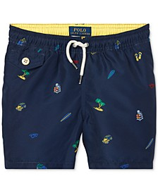 Little Boys Traveler Printed Swim Trunks