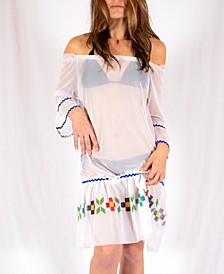 Quetzal Off The Shoulder Coverup Dress
