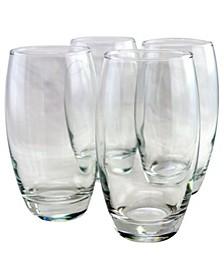 Pasabahce 4 Piece 17 Ounce Hi Ball Glass Set