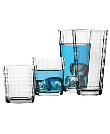 Pasabahce Scotch 12 Piece Cooler And Double Old Fashined Glass Set