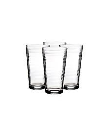 Pasabahce Doro 4 Piece 16.75 Ounce Cooler Glass Set, Clear